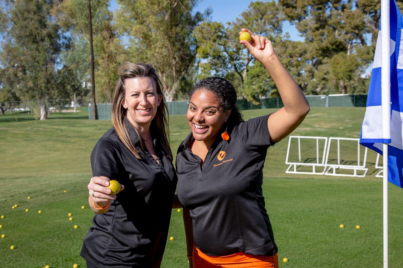 Jaz-and-Friend-Golfing