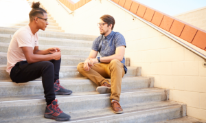 Mentor On Stairs