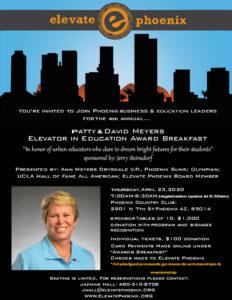 Ann Myers Drysdale Board Member Elevate Phoenix Youth Charity Education awards breakfast
