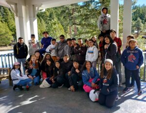 teacher mentor Miss Stacie takes Elevate Phoenix students to the snow!