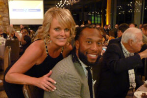 Lisa-Reilly-and-Larry-Fitzgerald, Elevate Phoenix Gala charity fundraiser