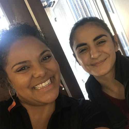 Jazmine Hall and student elevate phoenix youth charity