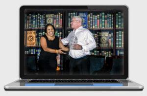 Jazmine Hall and Tony Montgomery, Board member Elevate phoenix youth charity