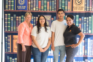 Anne Myers Drysdale, students and Jazmine Hall Elevate Phoenix youth charity