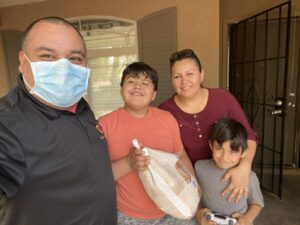 Elevate Phoenix Youth Charity delivering turkeys to students and their families