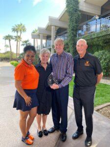 Jazmine Hall, Phyllis and Bob Barbee, Tom Lehman, with Elevate Phoenix youth charity