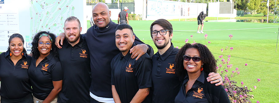 Jazmine Hall, Teacher Mentors, Charles Barkley and Dalila Gamper with Elevate Phoenix